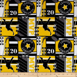 Flannel Hockey MVP Yellow Fabric