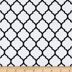 Flannel Trellis White/Black