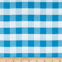 Flannel Gingham Plaid Aqua
