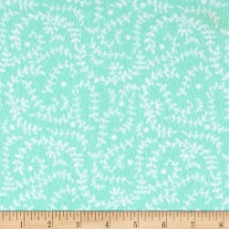 Flannel Vines Aqua Fabric