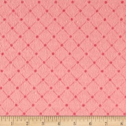 Flannel Tuft Pink Fabric
