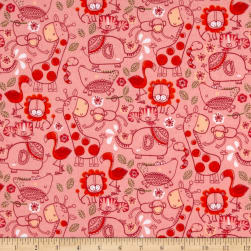 Flannel Jungle Line Art Pink