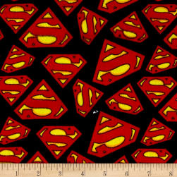DC Comics Superman Logo Flannel Multi Fabric
