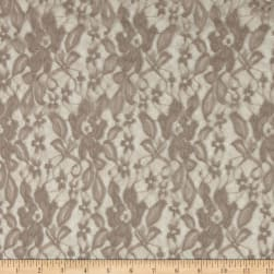 Traditional Stretch Lace Grey Fabric