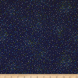 Kanvas Island Blossom Ditzy Dot Navy Fabric