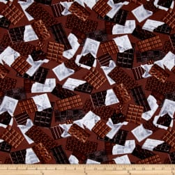 Chocoholic Unwrapped Brown Fabric