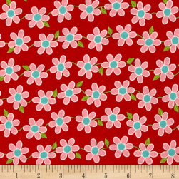 Bugsy Whimsy Flower Red