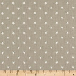 Premier Prints Mini Star Twill Gunmetal Tan/White