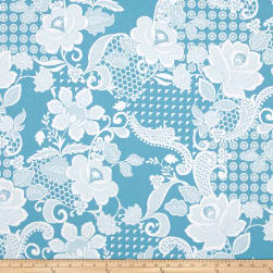 Hoffman Simply Eclectic Chantilly French Blue Fabric