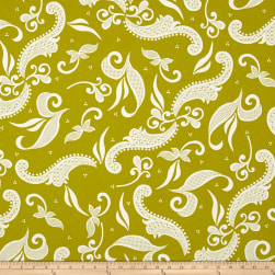 Hoffman Simply Eclectic Lace Scroll Chartreuse