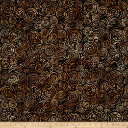 Wilmington Batiks Spinning Circles Black/Brown