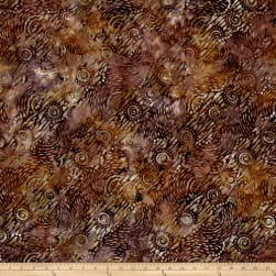 Wilmington Batiks Dynamic Circles Dark Brown