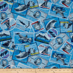 Make A Splash Postal Stamps Blue