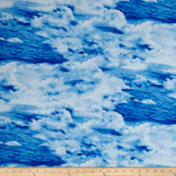 Make A Splash Sky And Water Blue Fabric