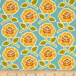 Riley Blake Farm Girl Rose Trellis Teal