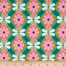 Riley Blake Botanique Stripe Teal Fabric