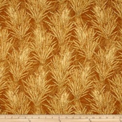 Timeless Treasures Give Thanks Metallic Wheat Field Gold
