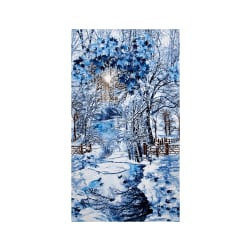 "Timeless Treasures Scenic Snow Fall 24"" Panel Winter"