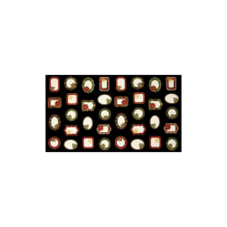 Timeless Treasures Glamourous Holiday Christmas 23'' Panel Labels Black Metallic Fabric