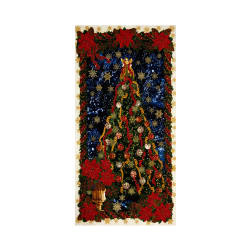 "Timeless Treasures Glamourous Holiday 24"" Christmas Tree Panel Multi"