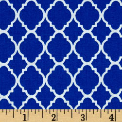 Petit Quatrefoil Royal/White