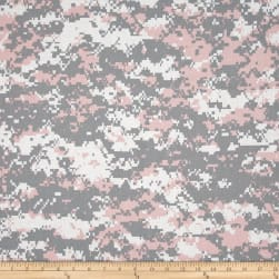 Urban Camouflage Pink/Grey Fabric