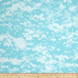 Urban Camouflage Aqua/White Fabric