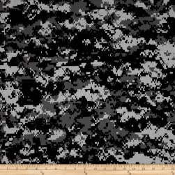 Urban Camouflage Black/Grey Fabric
