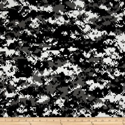 Urban Camouflage Black/White/Grey Fabric