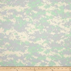 Urban Camouflage Mint/Grey Fabric