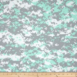 Urban Camouflage Mint/White/Grey Fabric