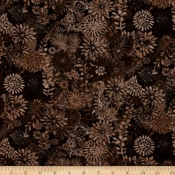 44'' Wide Quilt Packed Floral Brown Fabric