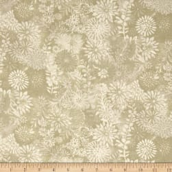 "44"" Wide Quilt Packed Floral Taupe"