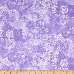 44'' Wide Quilt Packed Floral Purple Fabric