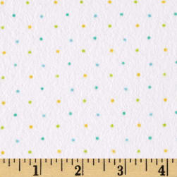 Ric Rac Paddywack Flannel Blue Multi Dot Fabric