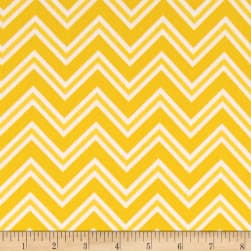 Ric Rac Paddywack Flannel Yellow Chevron Fabric