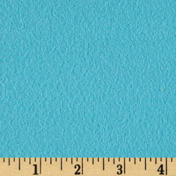 Fluffy Flannel Solids Turquoise Fabric