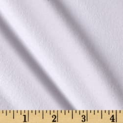 Fluffy Flannel Solids White Fabric