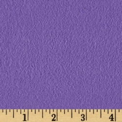 Fluffy Flannel Solids Purple Fabric