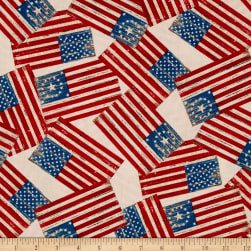 Colors Of Freedom Flags All Over Ivory