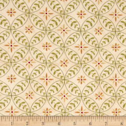 Poppy Celebration Floral Rings Cream Fabric