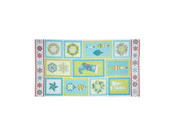 Sparkle Panel 24'' Turquoise Multi Fabric
