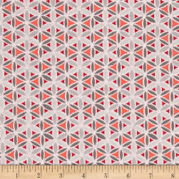 Sparkle Dot Geo Red/Grey Fabric