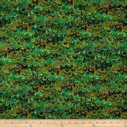 Rhapsody In Blue Metallic Mineral Magic Green/Black Fabric