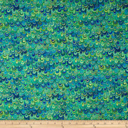 Rhapsody In Blue Metallic Mineral Magic Blue/Lime Fabric