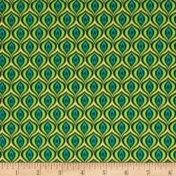 Rhapsody In Blue Metallic Golden Eye Green/Lime Fabric