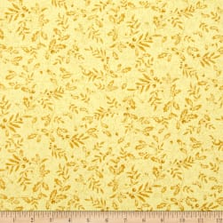 Mistletoe Metallic Mistletoe Gold Fabric