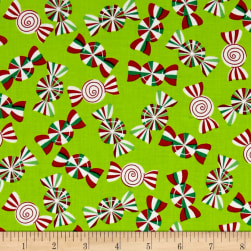 Holiday Cheer Holiday Peppermints Lime Fabric