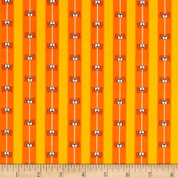 Boooo Ville Spider Silk Orange Fabric