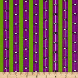 Boooo Ville Spider Silk Purple Fabric